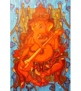 Ganesha playing veena (4)